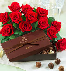 Chocolate and flowers! Everyone loves chocolate and flowers on Valentine's Day! Plus it's a holiday so the calories don't count!