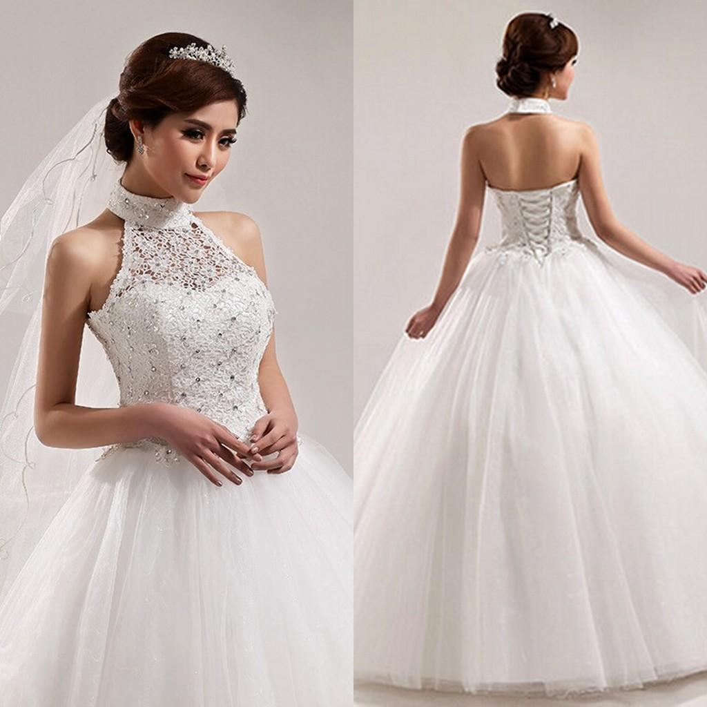 The second dress the bride will switch into is a white princess-cut ball gown that resembles a traditional American wedding dress.