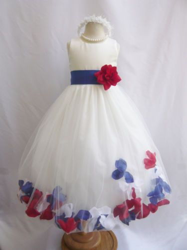 Go an extra step with adding flower pedals into the flower girl's dress! She'll truly feel like a princess!