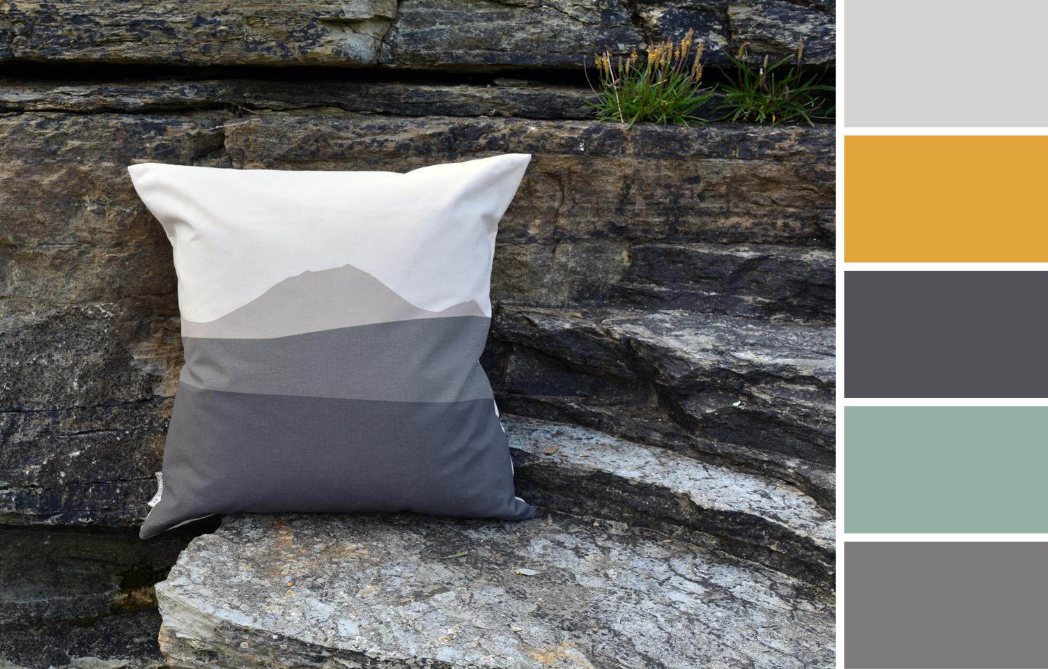 Caithness Morven cushion interior colour palette