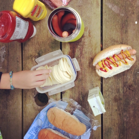 picnic hotdogs geise farm walk caithness