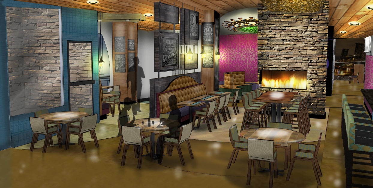 Bottle + Kitchen Restaurant inside Hotel Rose - Concept Art