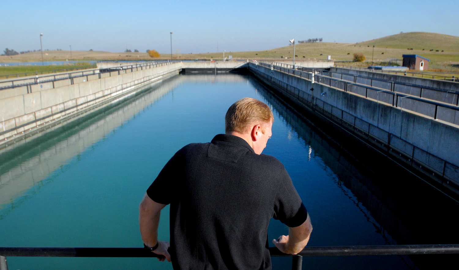 Brandan Hiltman, water treatment supervisor at the North Bay Regional Water Treatment Plant in Fairfield, Calif.