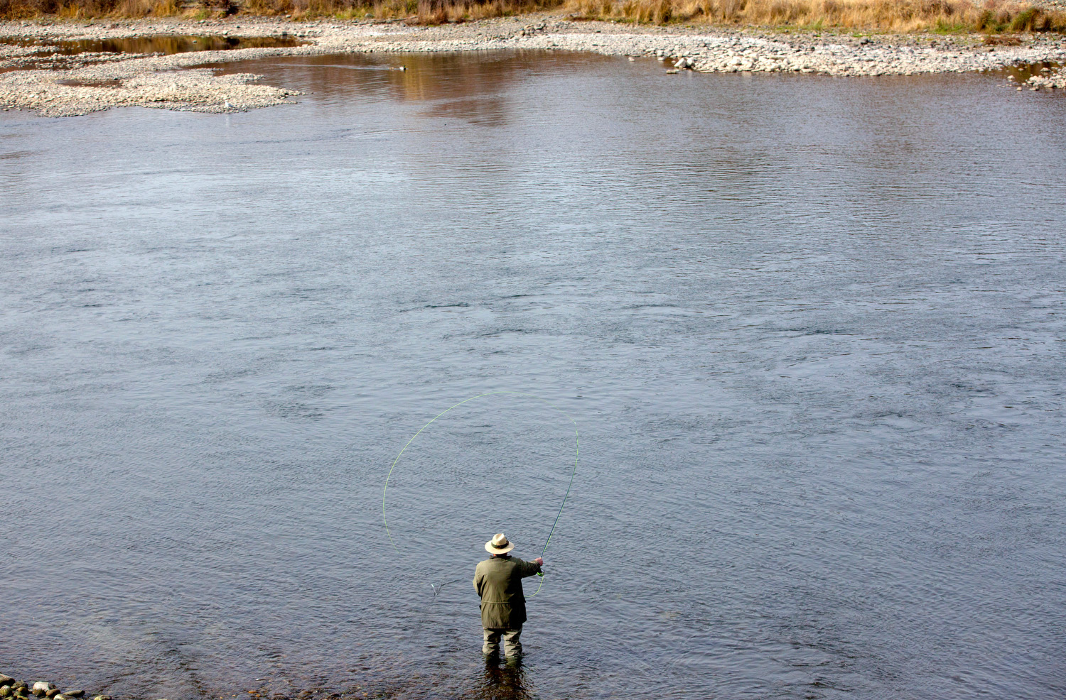 Fly fishing on the American River.