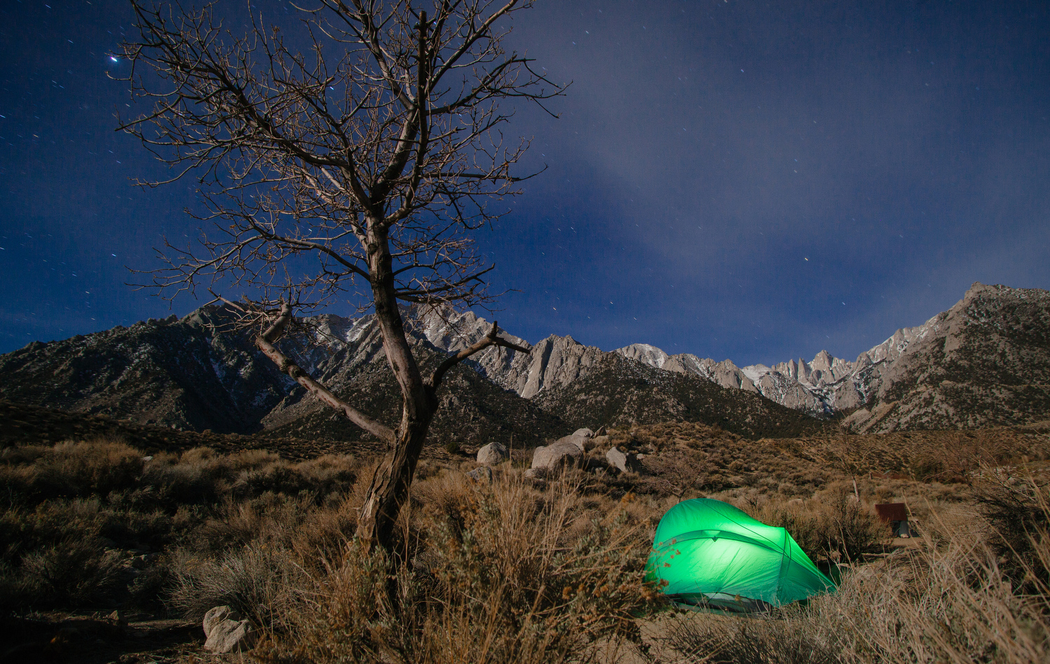 Camping near Mt. Whitney.