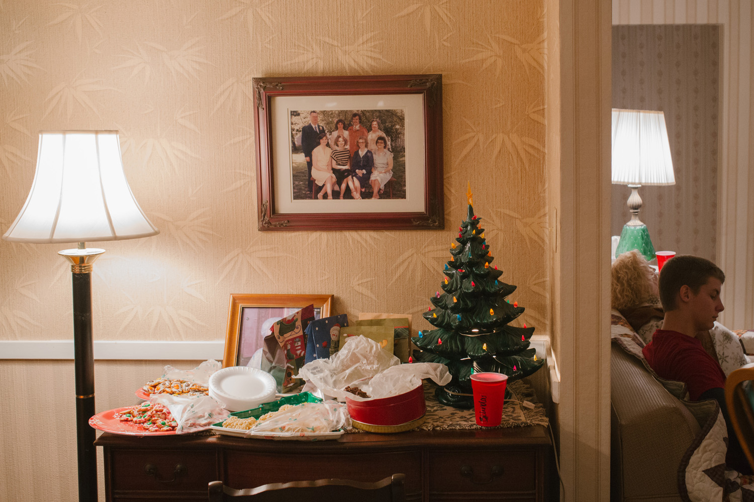 Grandma's house on Christmas Eve and the funeral on Dec. 26, 2014. (Photos by Brad Zweerink)