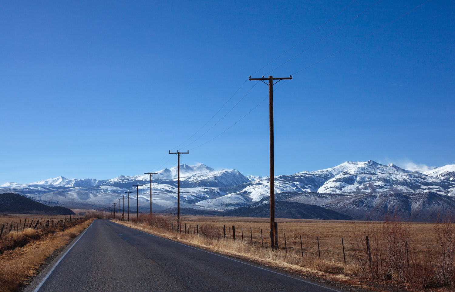 U.S. Route 359 through the Eastern Sierras is one of America's best road trips. Experiencing it in the winter with no one around is even better.