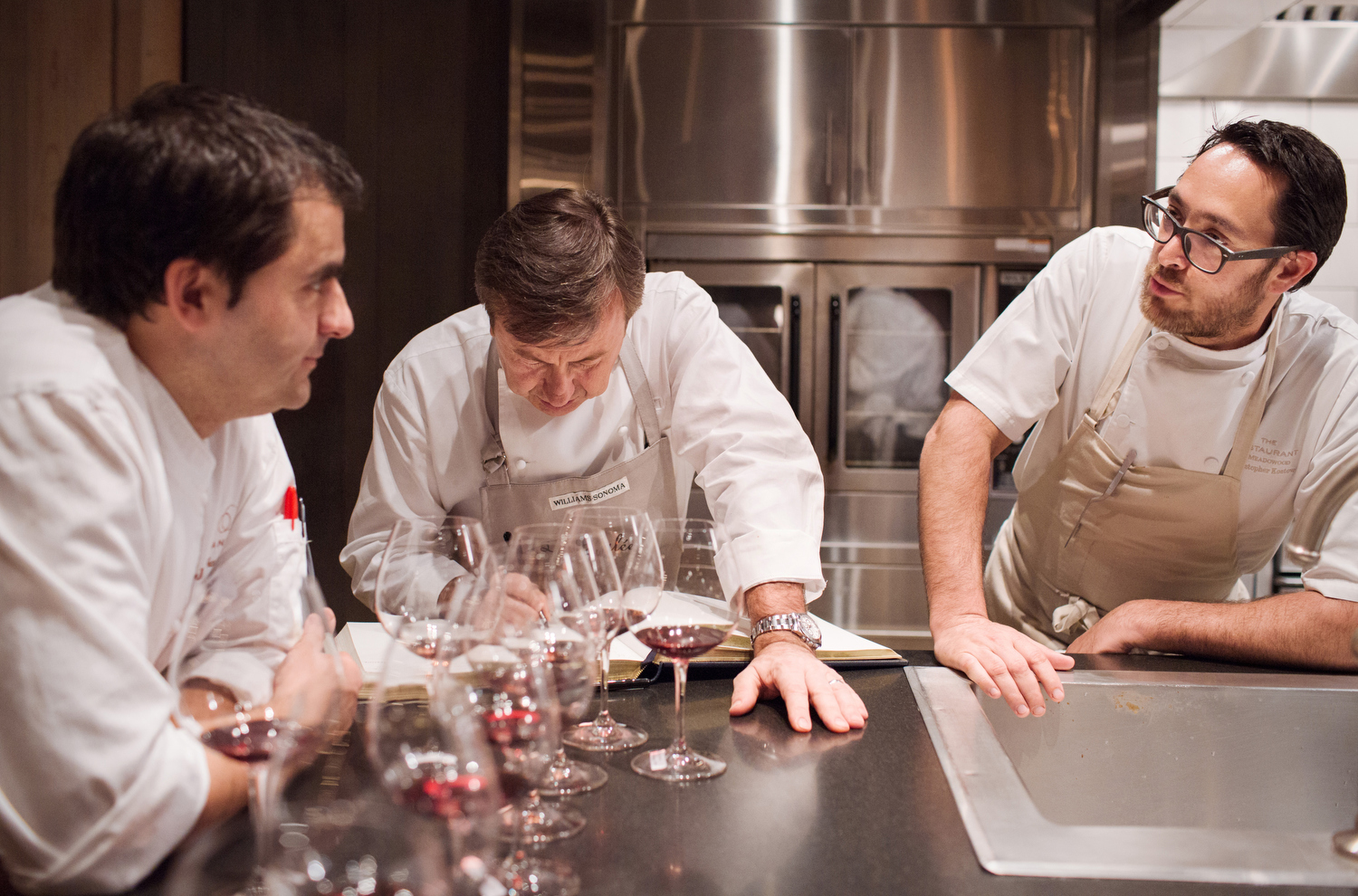 With many Michelin stars and James Beard Foundation awards between them, chefs Jean François Bruel, Daniel Boulud and Christopher Kostow, left to right.
