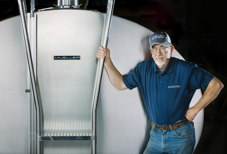 Dairy holding tank  Paul Mueller Company