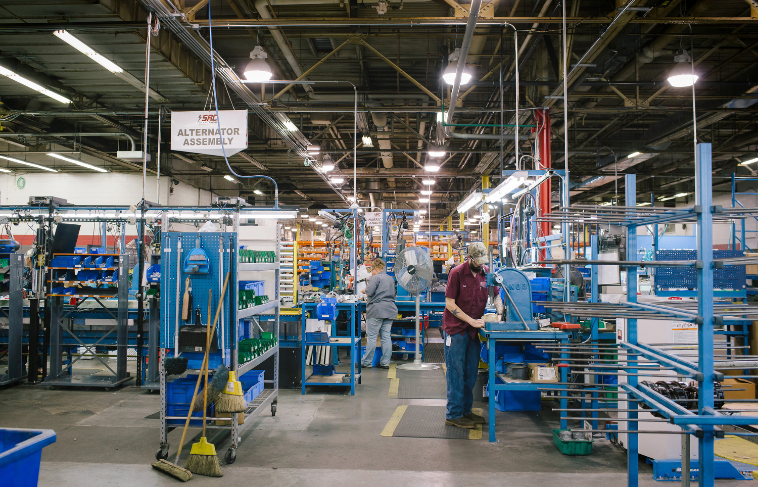 The alternator assembly area at the SRC Electrical facility on Sunshine in Springfield, Mo. on Nov. 22, 2016. Photo by Brad Zweerink.