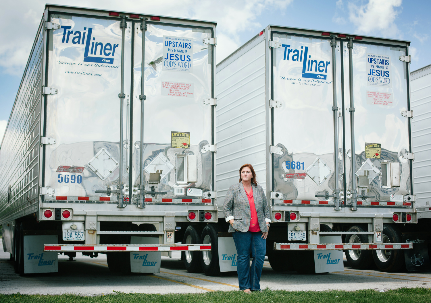Amber Edmondson, president of Trailiner, at the company's facility in Springfield, Mo. on May 18, 2017. Photo by Brad Zweerink.