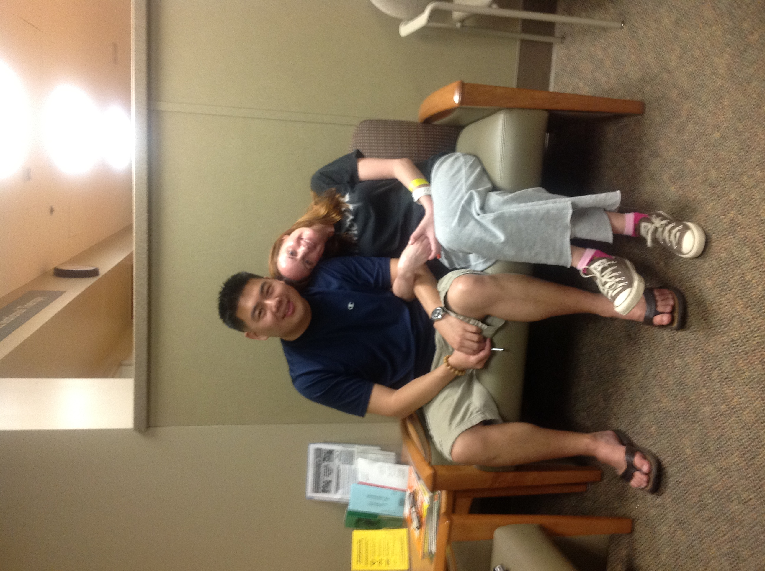 March 2012 - My good friend, Frank, came to visit me in rehab