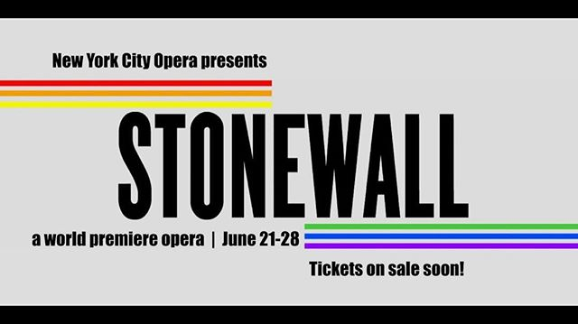 "So excited to be making my principal role debut in New York City Opera's world premiere of Iain Bell and Mark Campbell's ""Stonewall"". This is a challenging role done completely in drag and that resonates very deeply with my own experience of being black, queer, and oppressed. Please come to see this monumental event! #opera #operasinger #gay #gaypride"