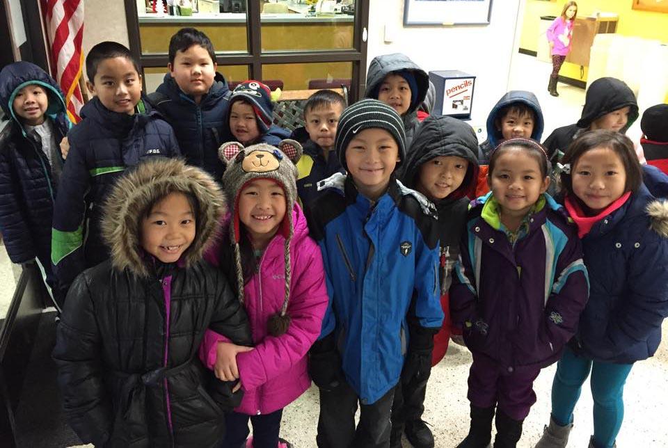 Northern Hills elementary school children in the onalaska school district