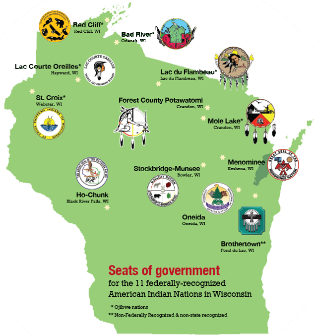 THE 11 FEDERALLY-RECOGNIZED AMERICAN INDIAN NATIONS IN WISCONSIN
