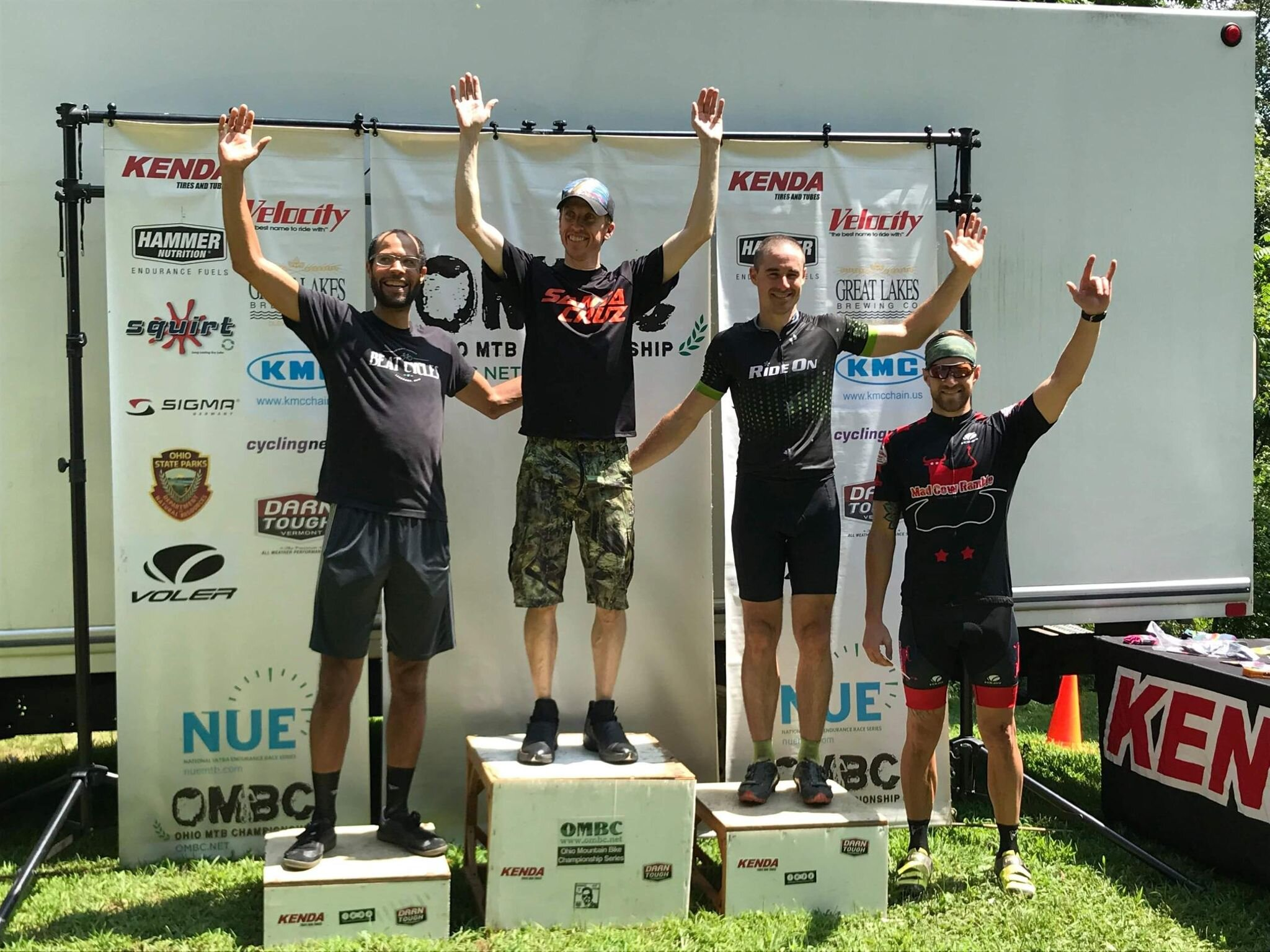 Why I look like I have a beer belly? I don't know. But 3rd place podium finish, heck yeah!