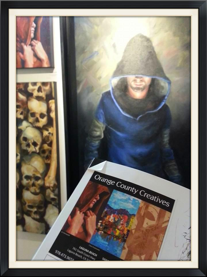 Advertisement for Orange County Creatives in the Laguna Beach Art Magazine for December 2013
