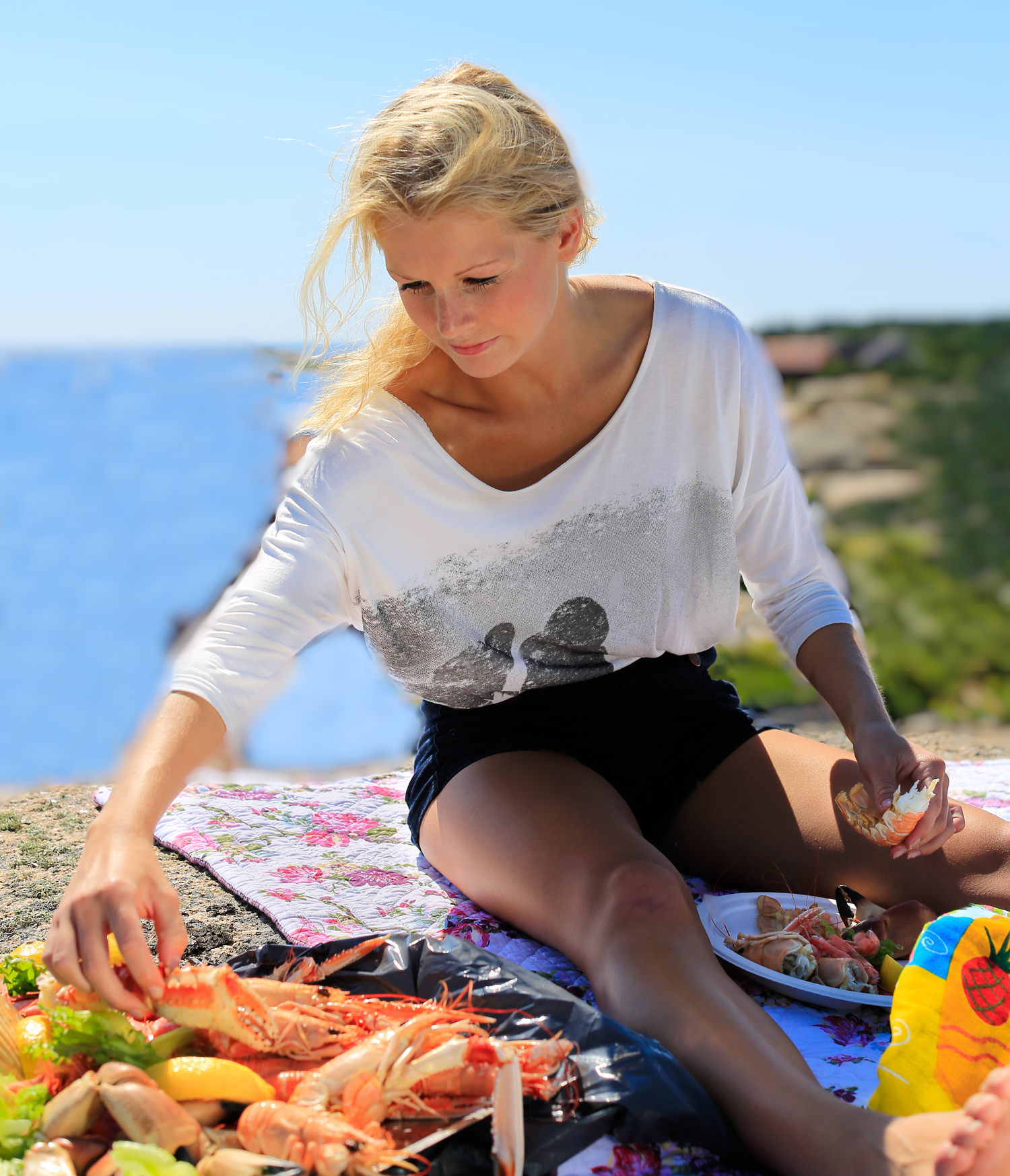 Ta en piknik med sjømat langs Brunlaneskysten til sommeren.