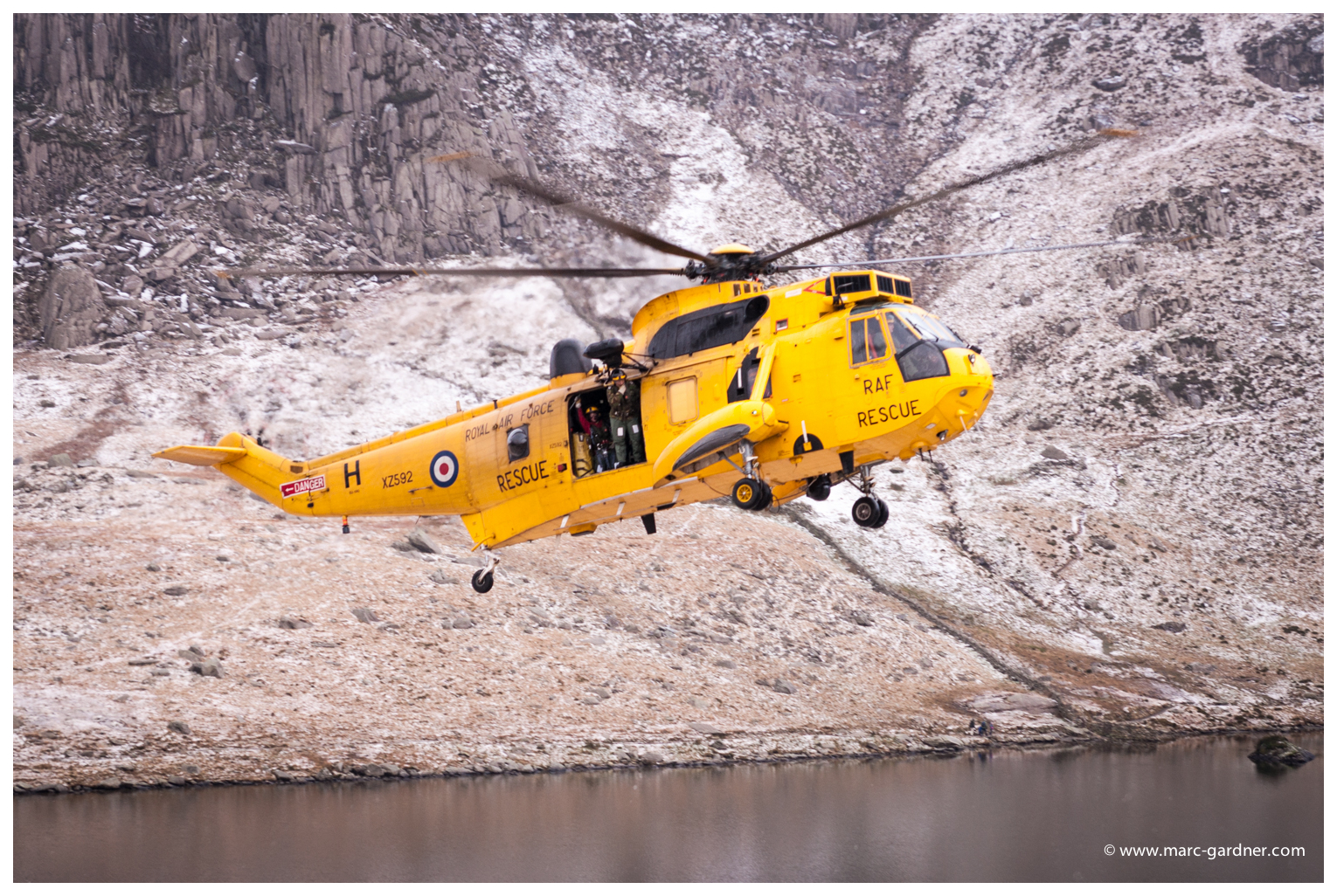 Click picture for larger view - RAF Search and Rescue arrive into Cwm Idwal