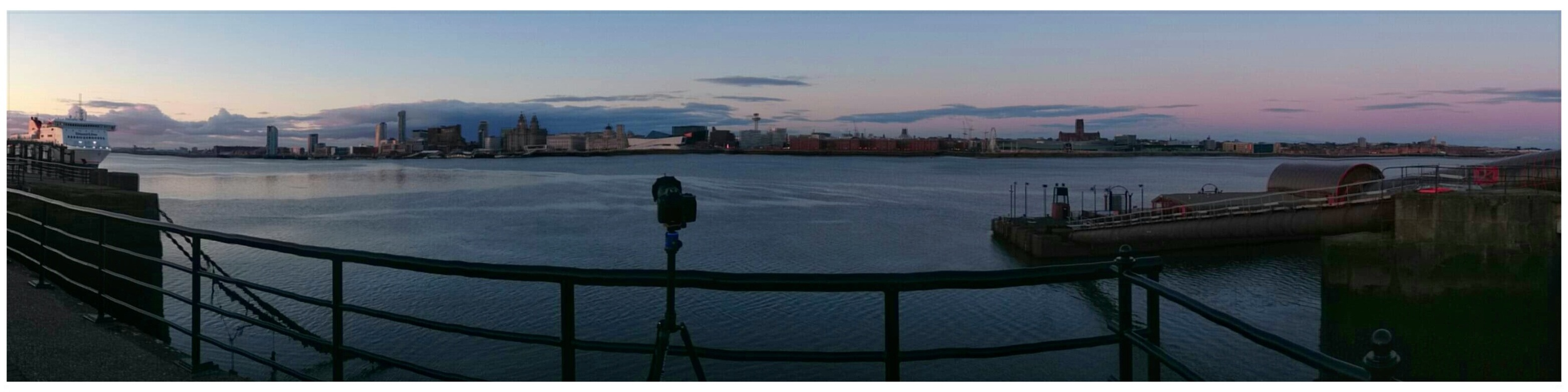Second pano shot of my camera set on a tripod overlooking the River Mersey.