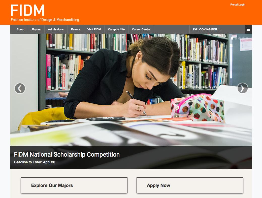 FIDM homepage 2016 Photo: John Koller