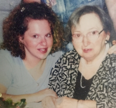 Me and my mom. I'm guessing 1995.