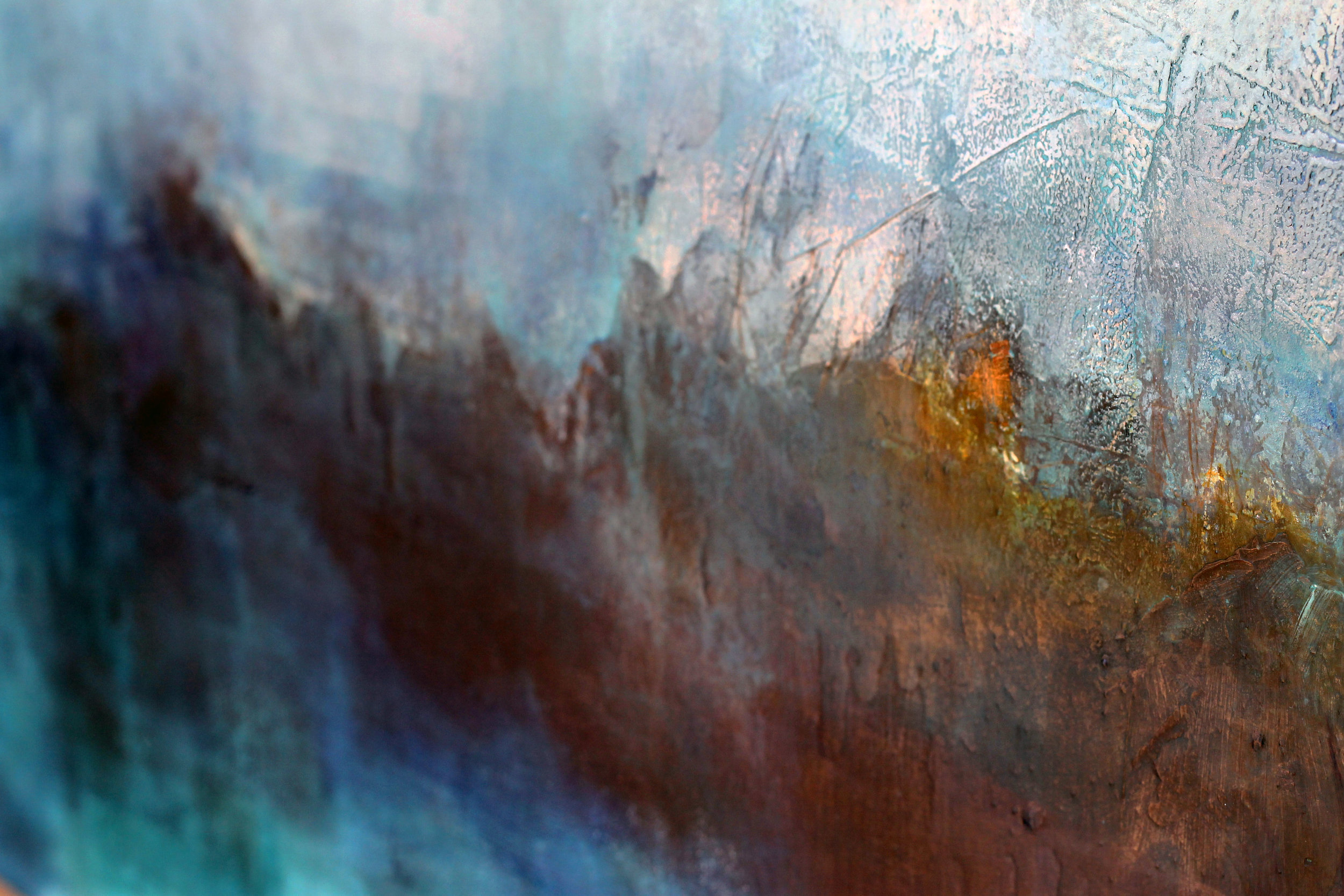 Sky Painting Detail of Texture and Colour