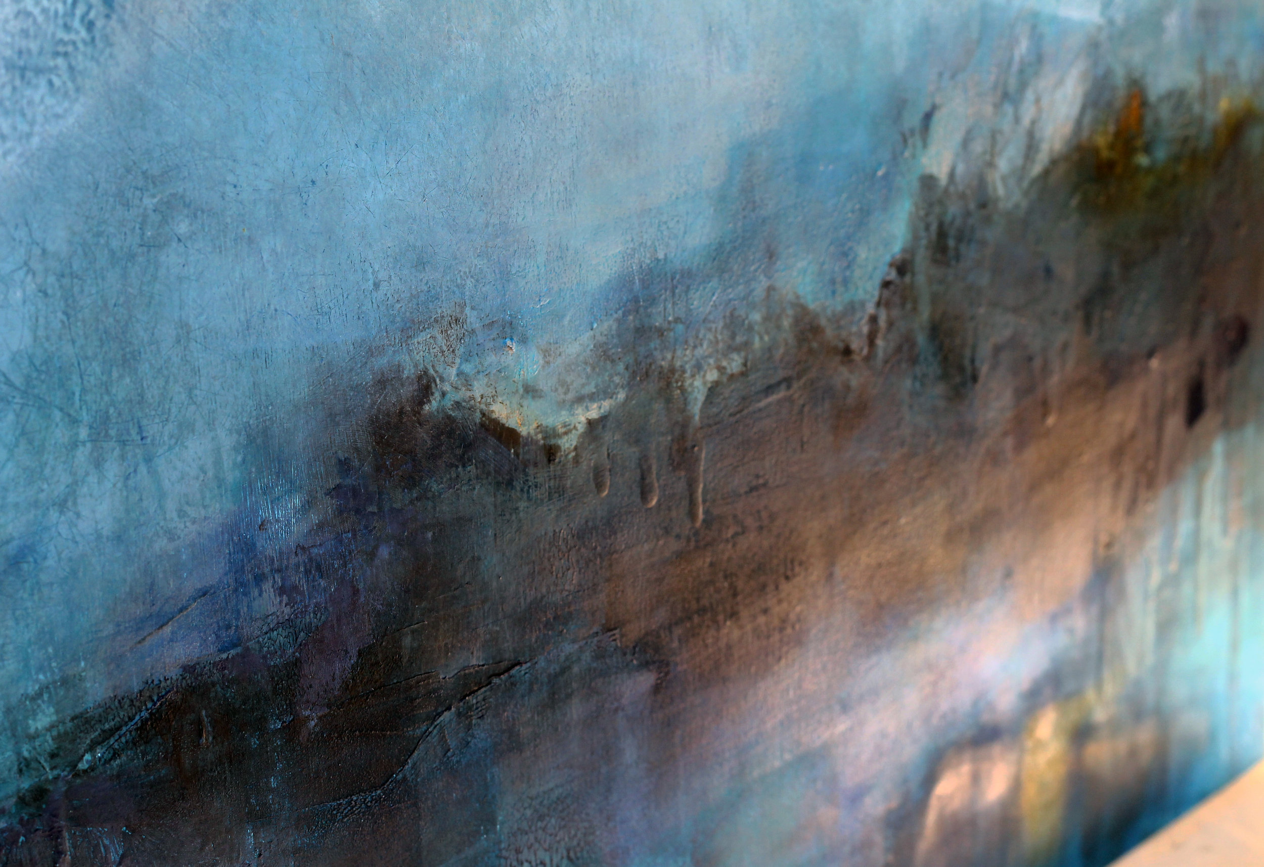 Texture and colour - Blue Sky painting