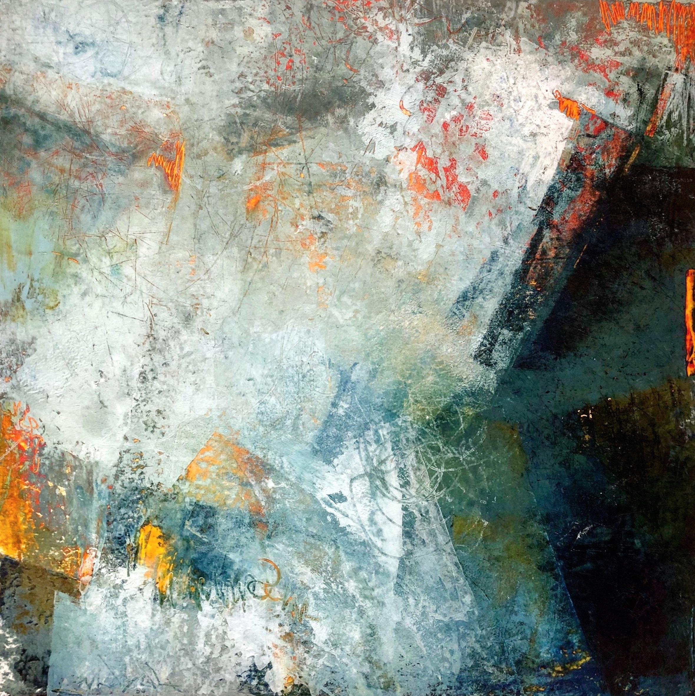 Illuminating the Fog (16x16) framed $375