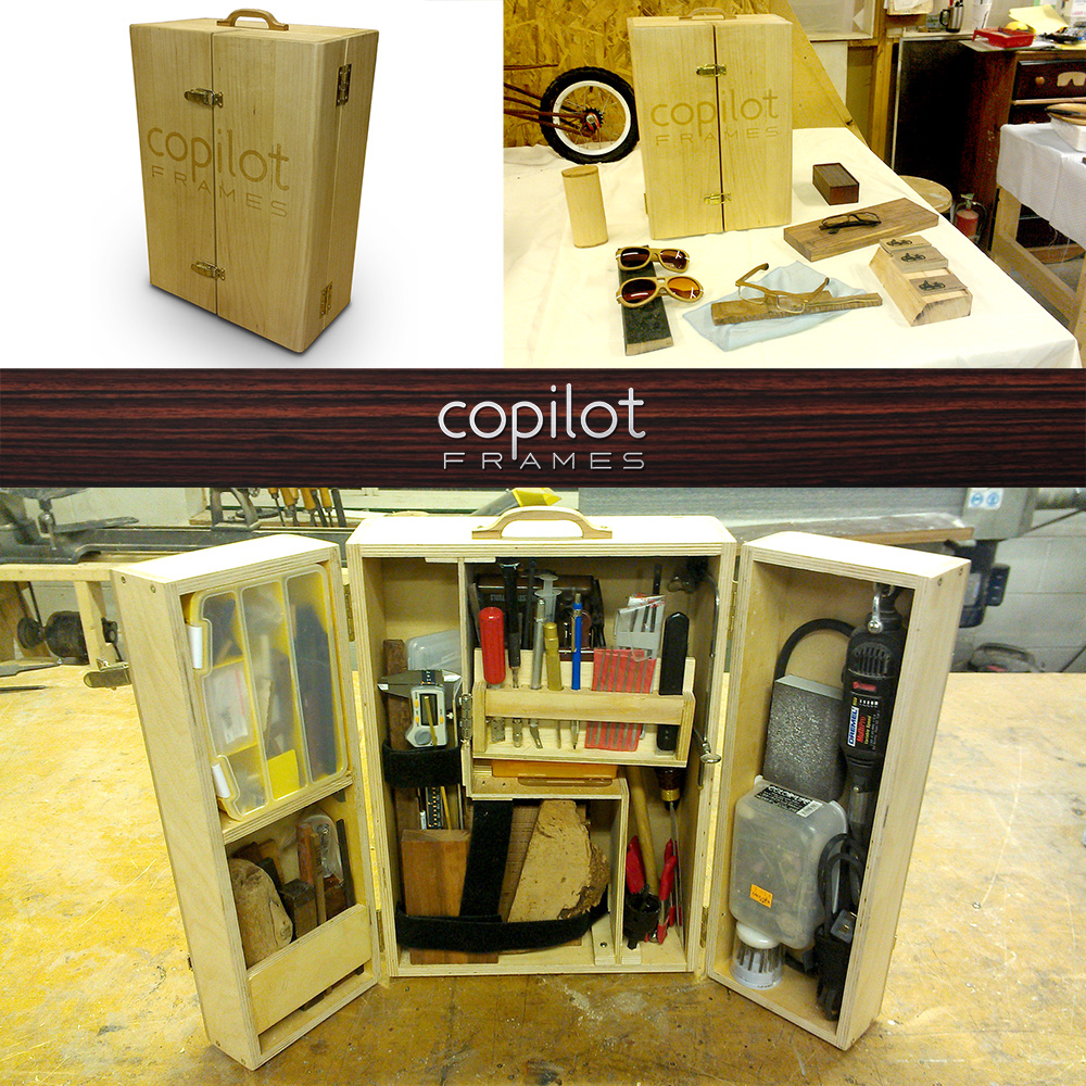Custom glasses building tool chest