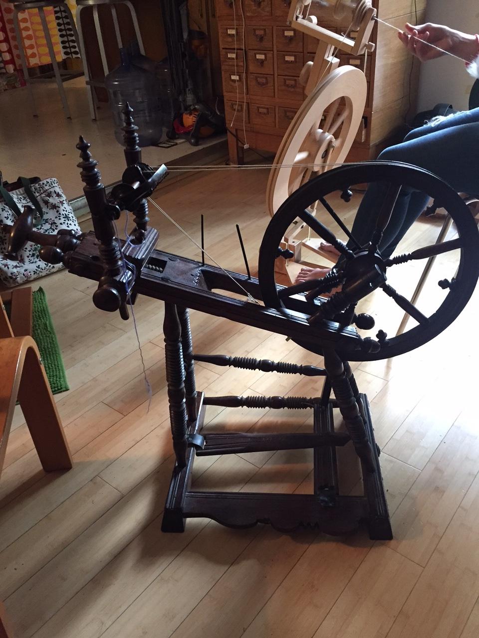The spinning savant's antique wheel