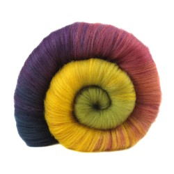 Polwarth/Tussah batt from Into the Whirled. Photo by Into the Whirled