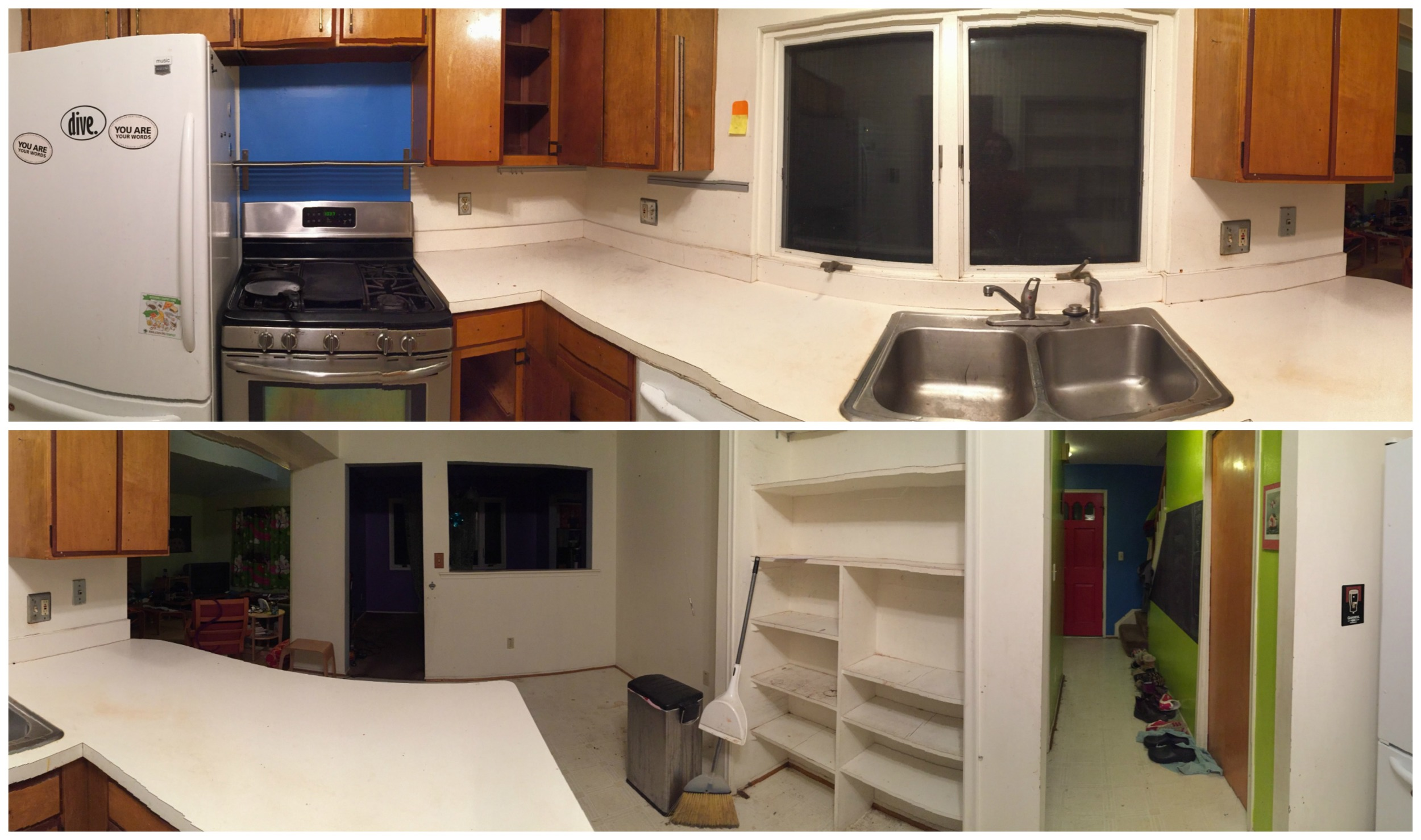 The before kitchen