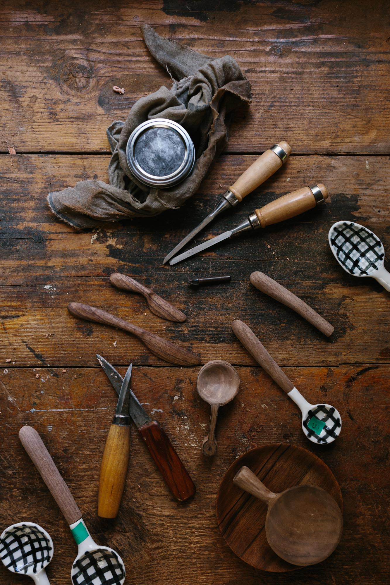 Melbourne lifestyle photographer Marnie Hawson's An Honest Trade project - woodworker Erin Malloy
