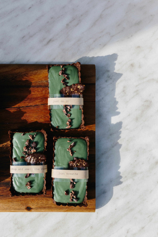 Choc mint tart raw dessert by Serotonin Eatery