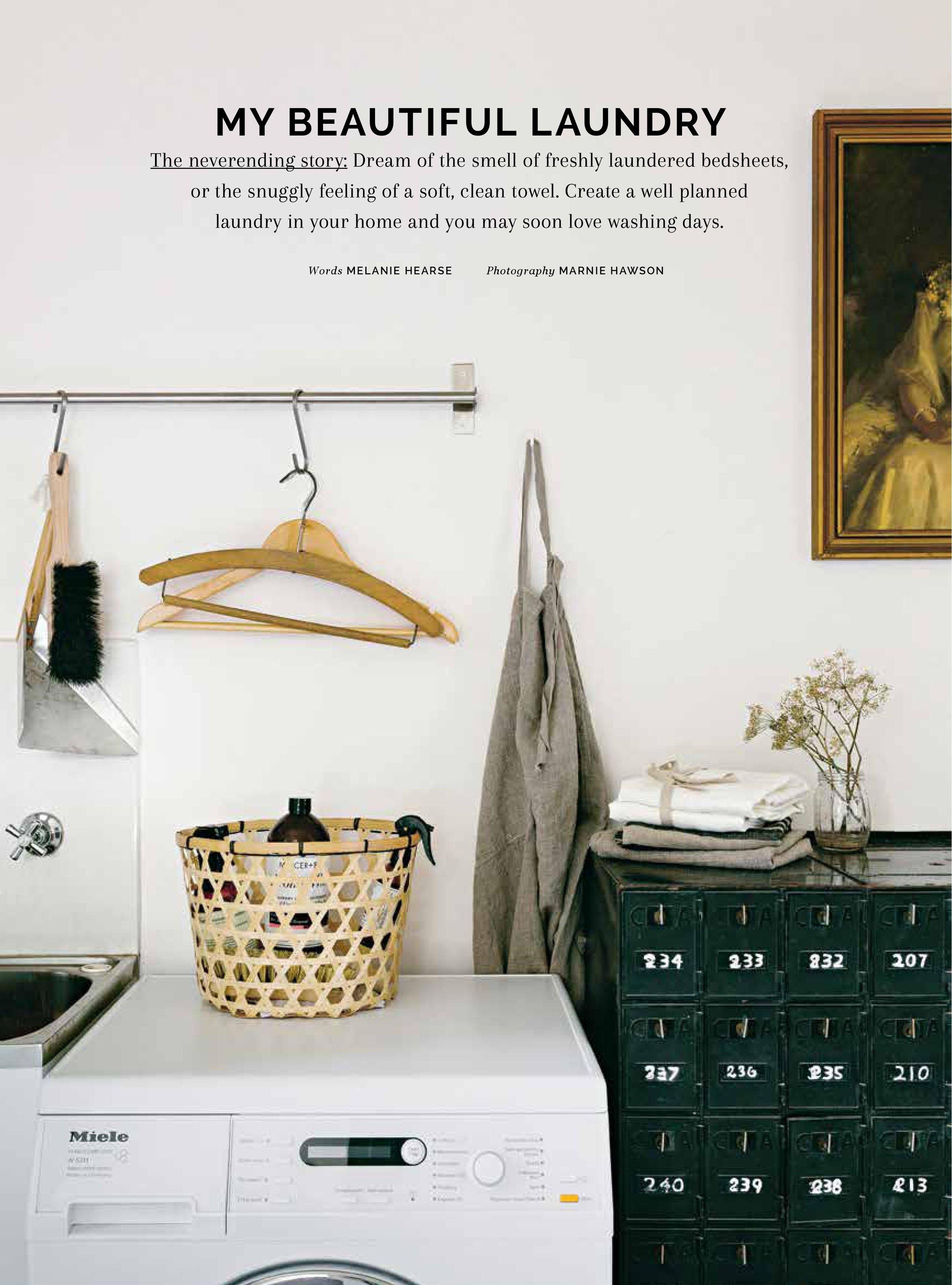 Homelife magazine, my beautiful laundry by Marnie Hawson
