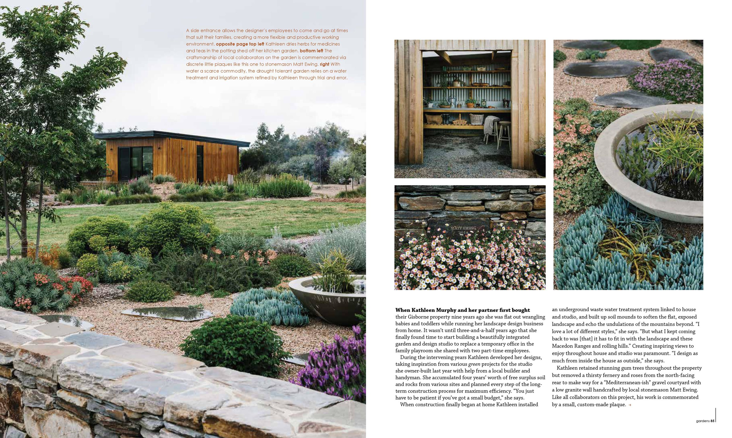 Marnie Hawson, Melbourne lifestyle photographer for Kathleen Murphy Landscape Design and Green Magazine