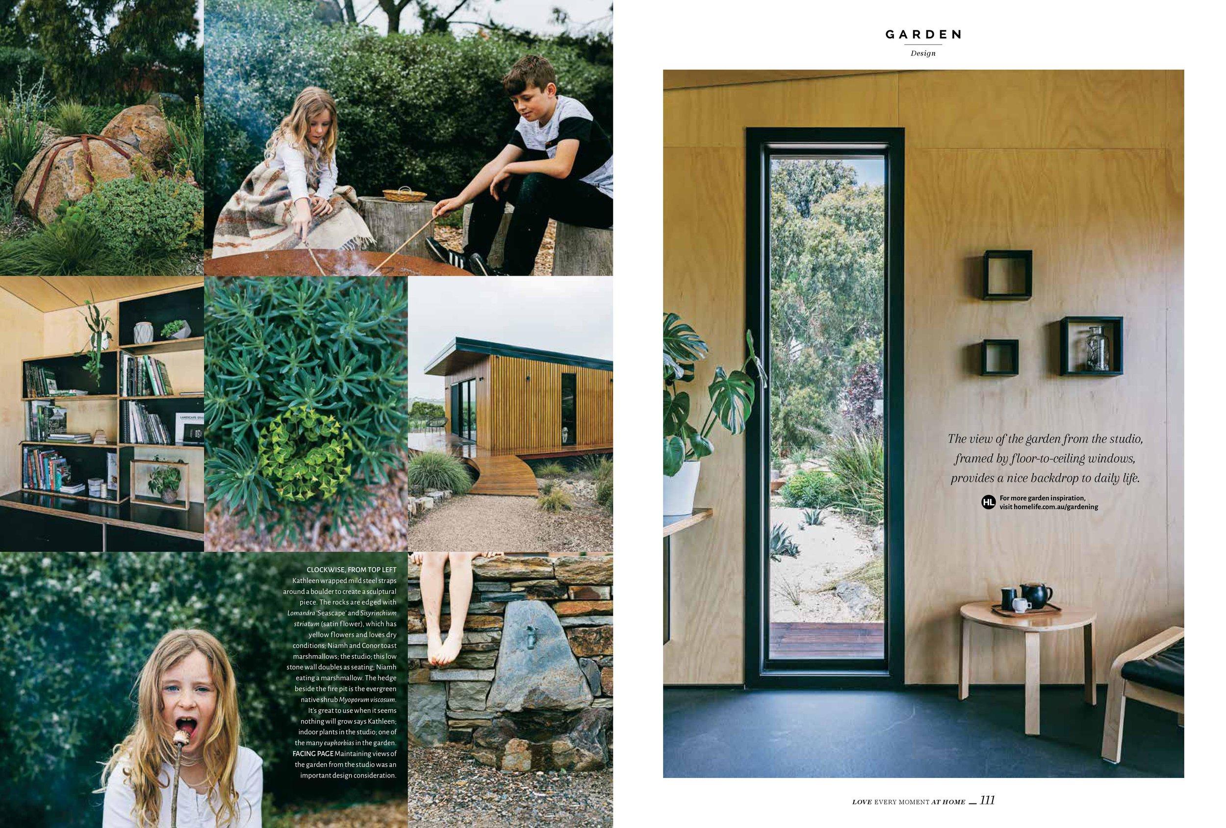 Marnie Hawson, Melbourne lifestyle photographer for Homelife magazine and Kathleen Murphy Landscape Design