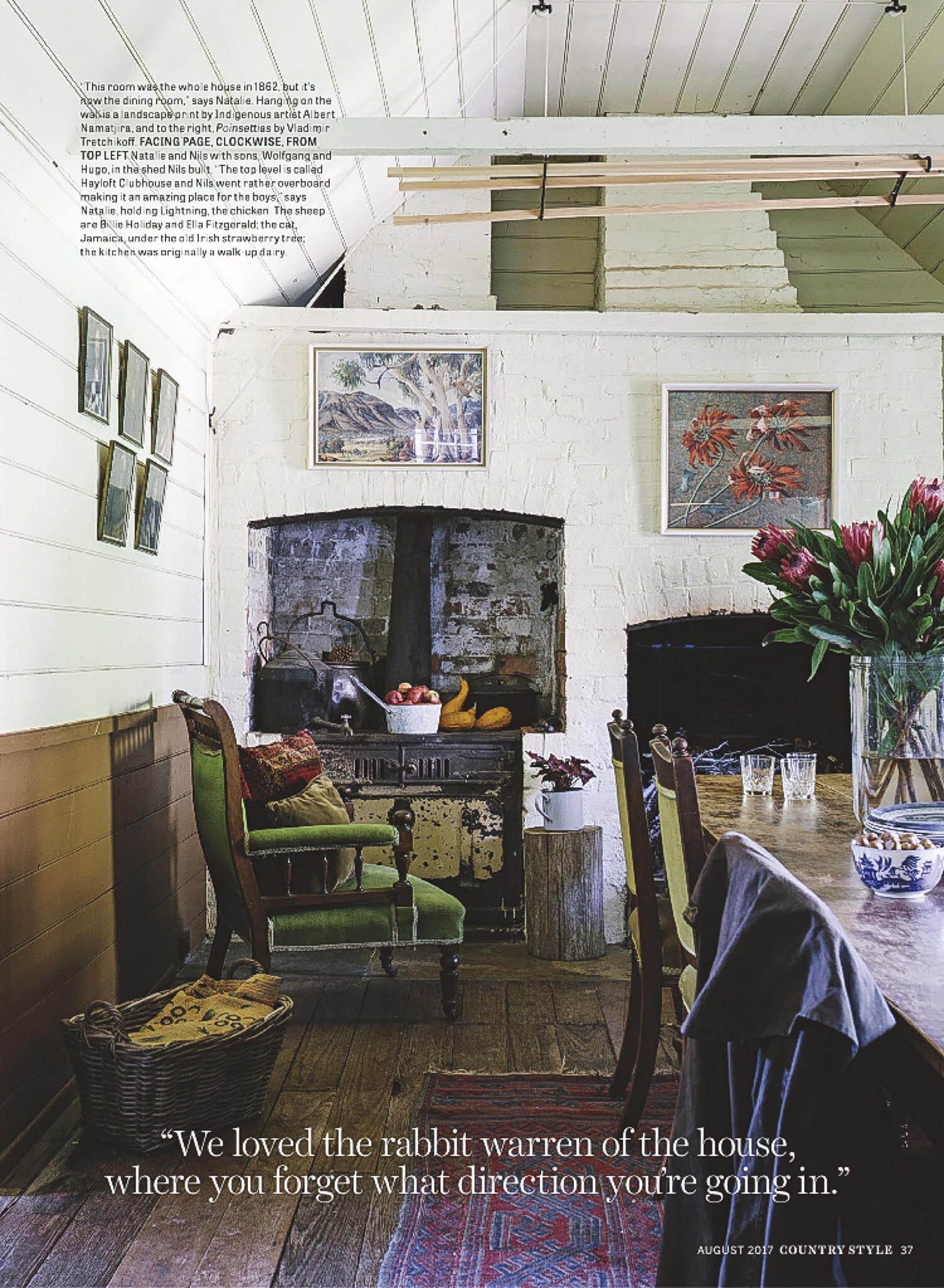 Marnie Hawson, Melbourne interior photographer for Ewing Farm, Tylden and Country Style magazine
