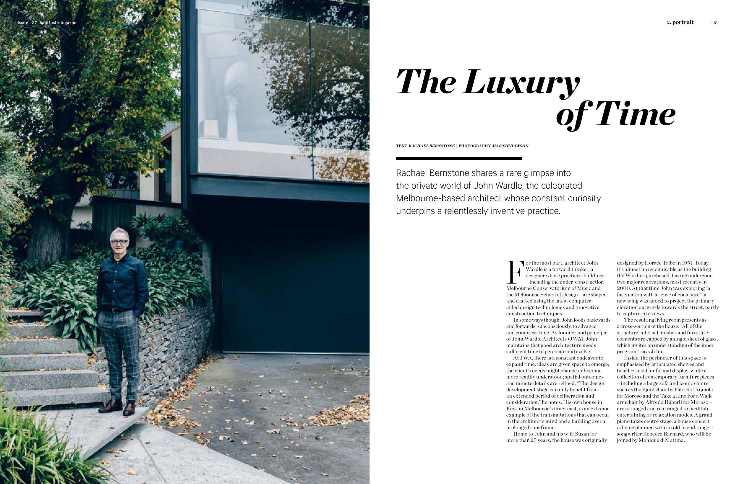 Marnie Hawson, Melbourne interior photographer, for John Wardle Architect and Habitus magazine, Issue 37