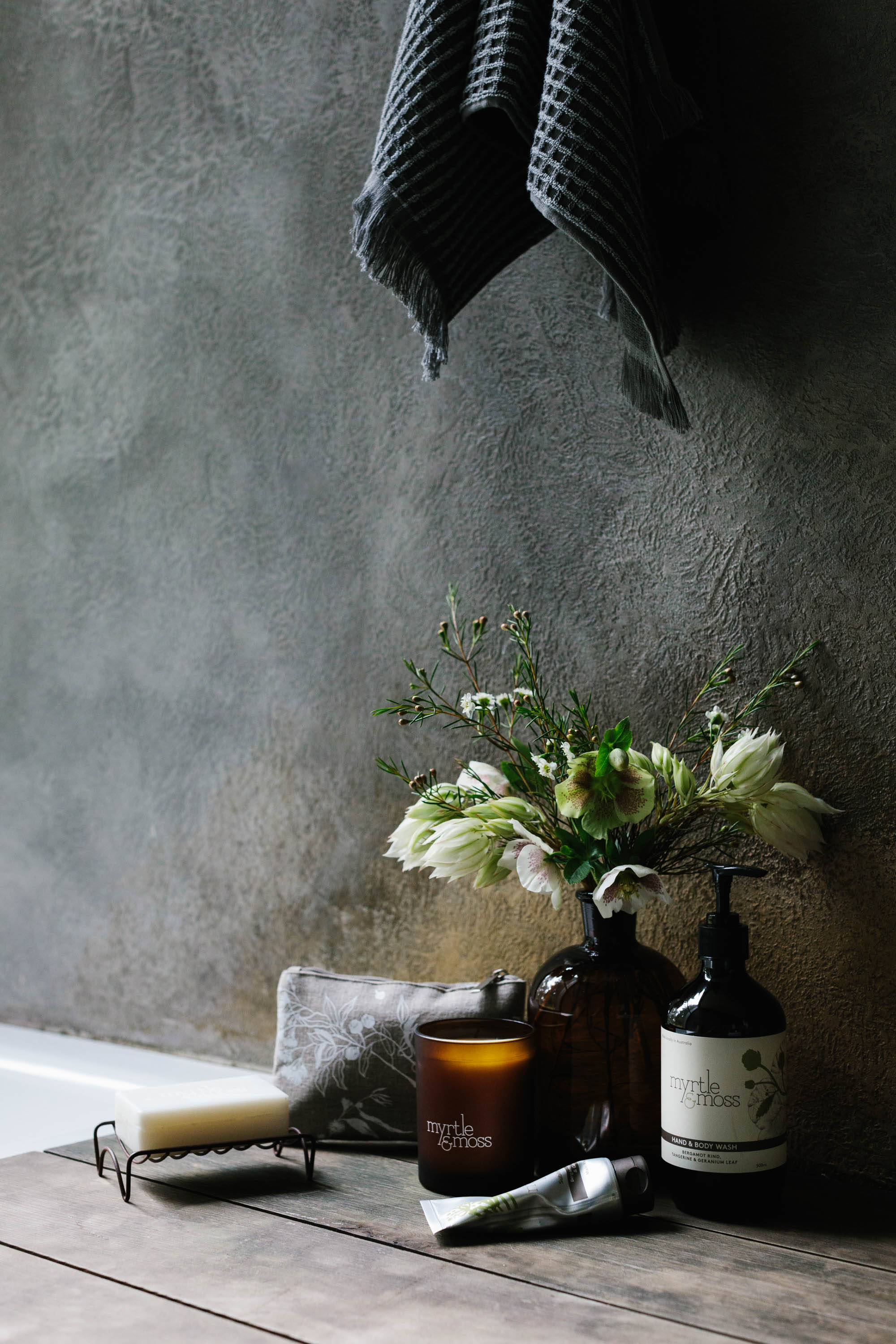 Marnie Hawson, Melbourne lifestyle photography, for Myrtle & Moss, botanical skincare