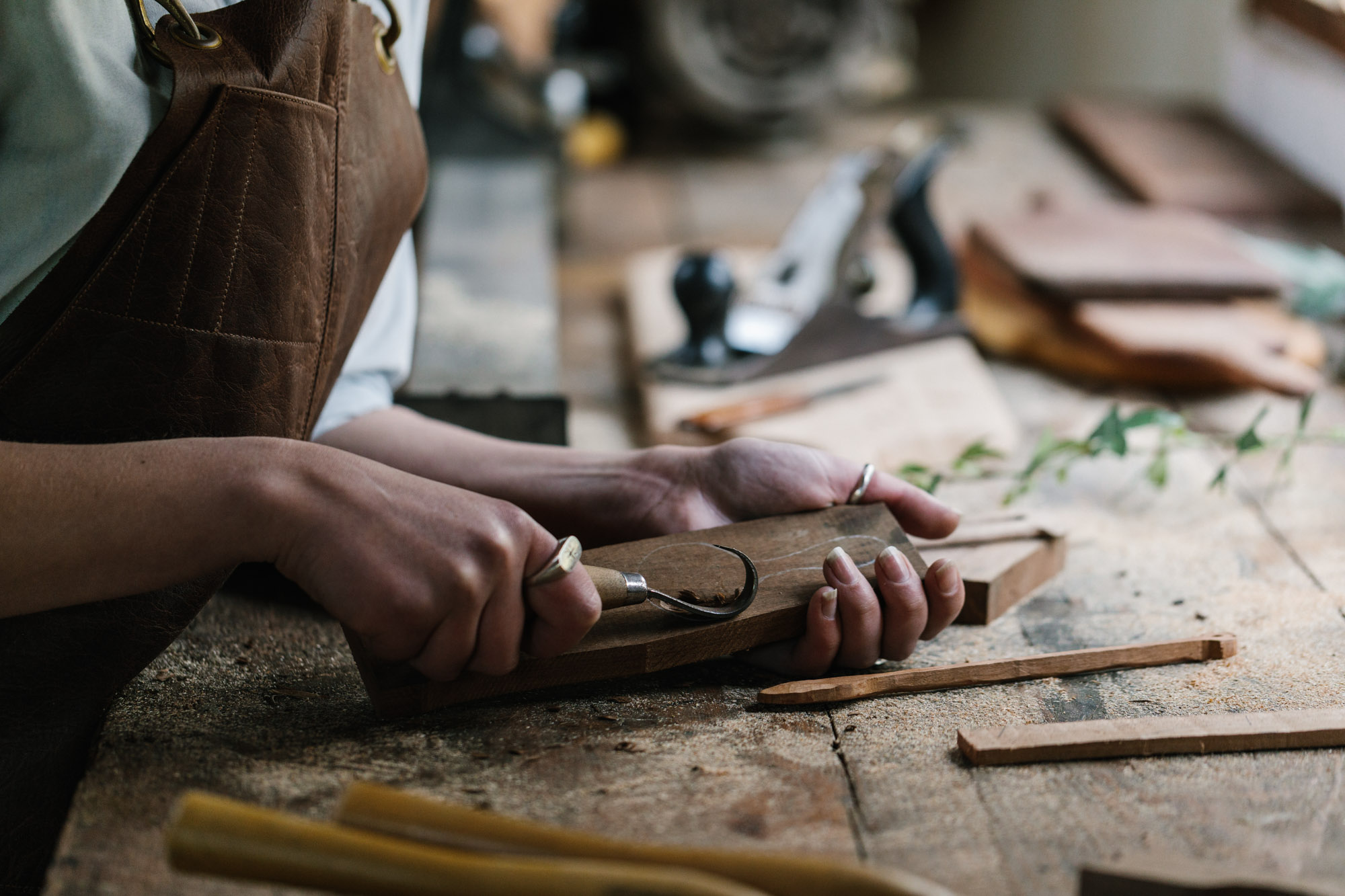 Marnie Hawson, Melbourne lifestyle photographer for The Muse and Tomorrow Agency: Erin Malloy, woodworker