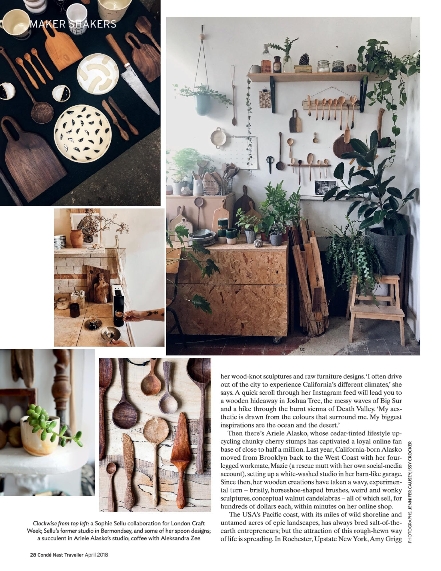 Marnie Hawson, Melbourne lifestyle photography for Conde Nast Traveller and Erin Malloy, woodworker