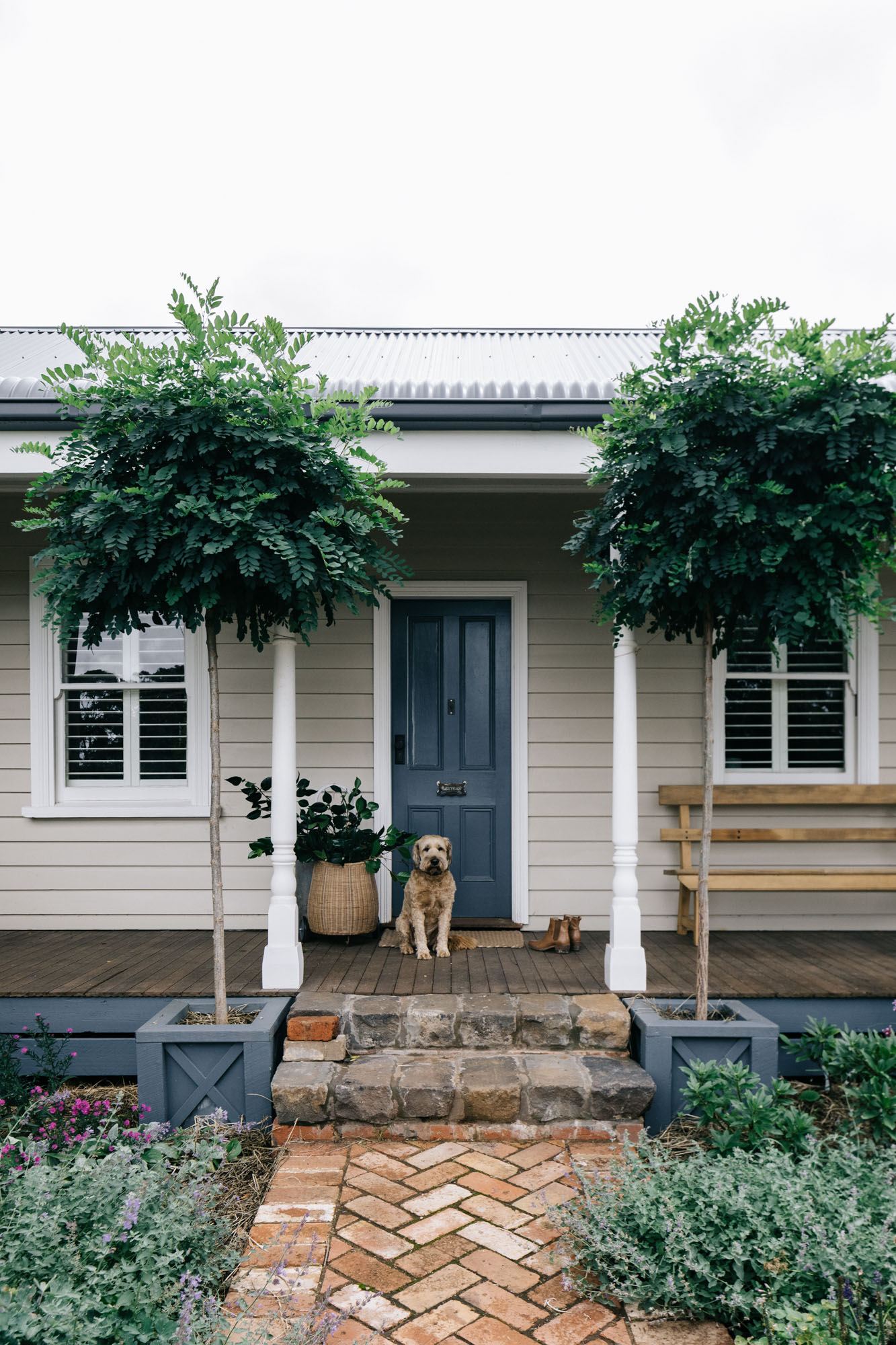 Country weatherboard cottage at Acre of Roses, Trentham - a sustainable flower farm and luxury country accommodation. Photography by Marnie Hawson, Melbourne purpose-driven photographer and styled by Belle Hemming.