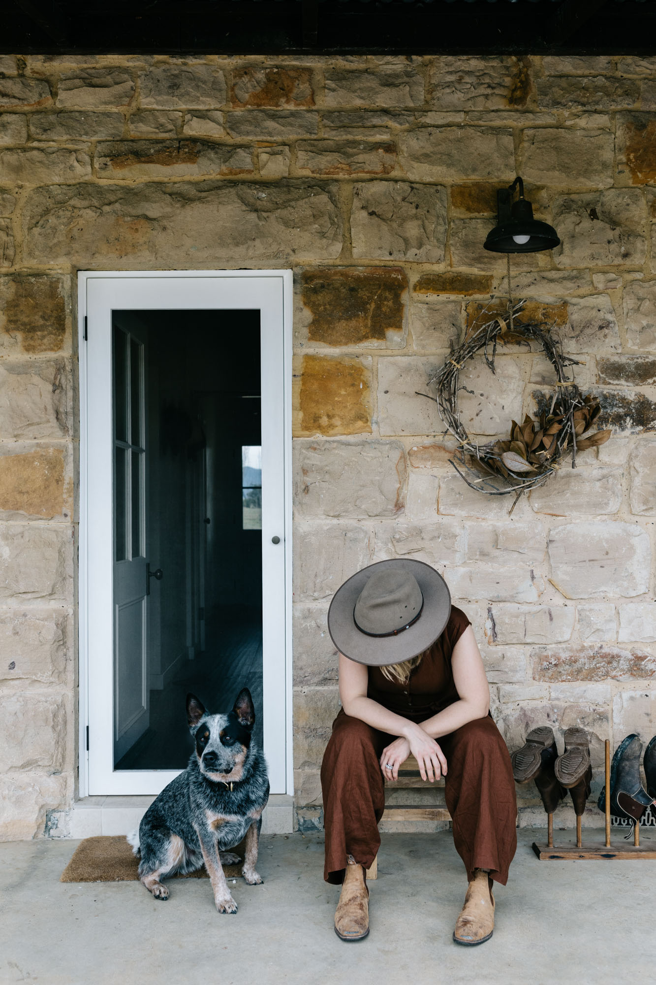 Edwina + Neil Bartholomew at Waramba for Country Style. Photography by Marnie Hawson, styling by Hannah Brady.