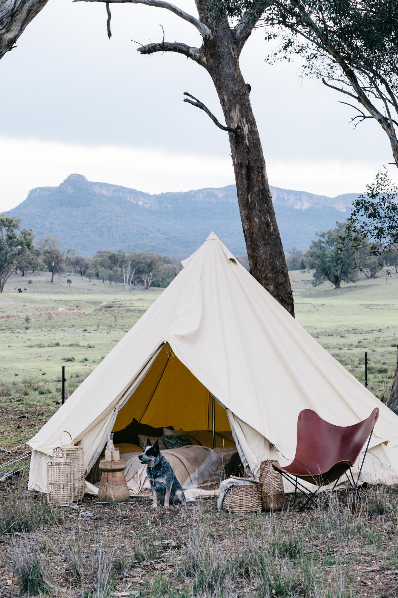 Edwina + Neil Bartholomew at Warramba for Country Style. Photography by Marnie Hawson, styling by Hannah Brady.