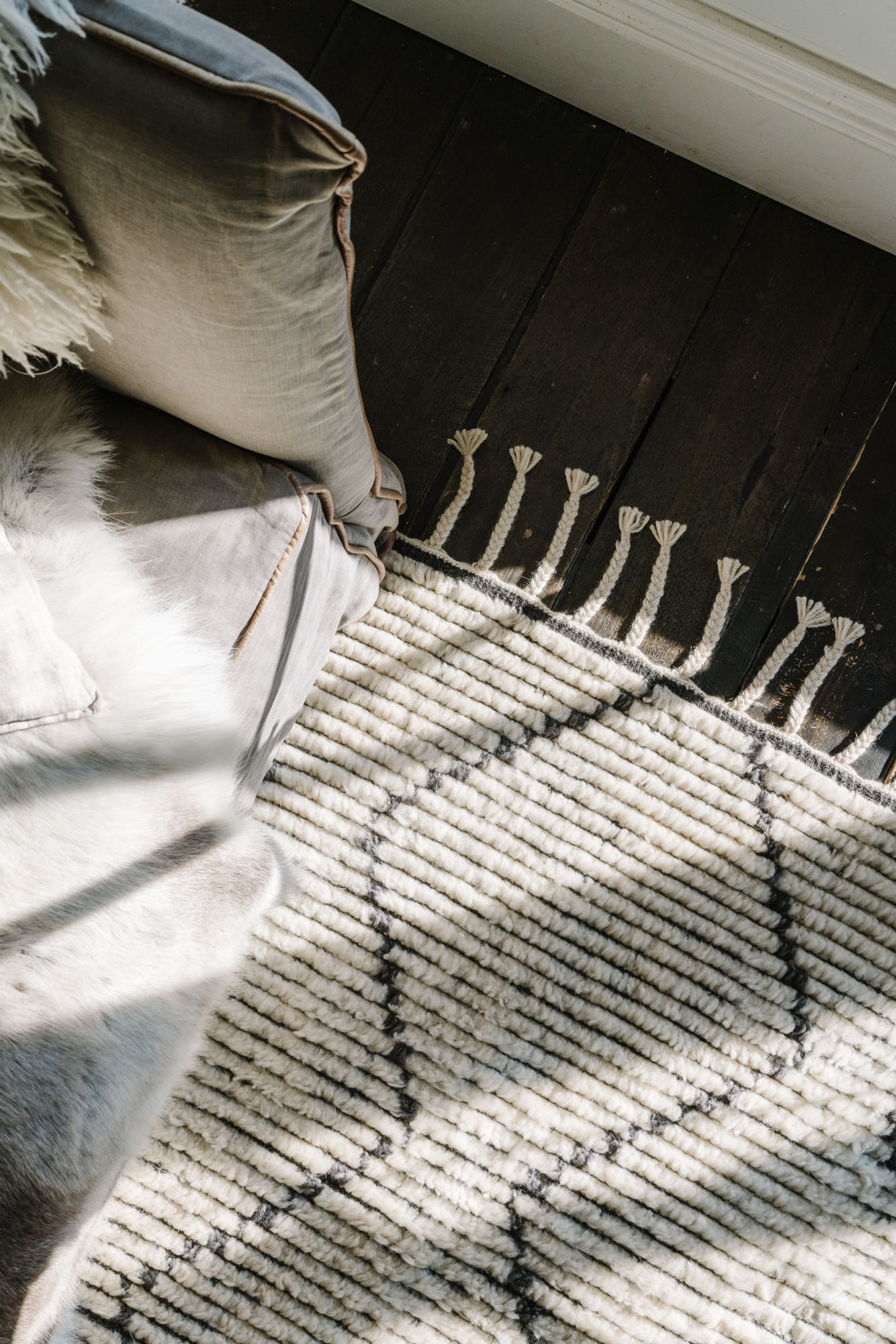 Purpose-driven photographer Marnie Hawson for Armadillo, maker of sustainable and ethical rugs at The Estate, Trentham