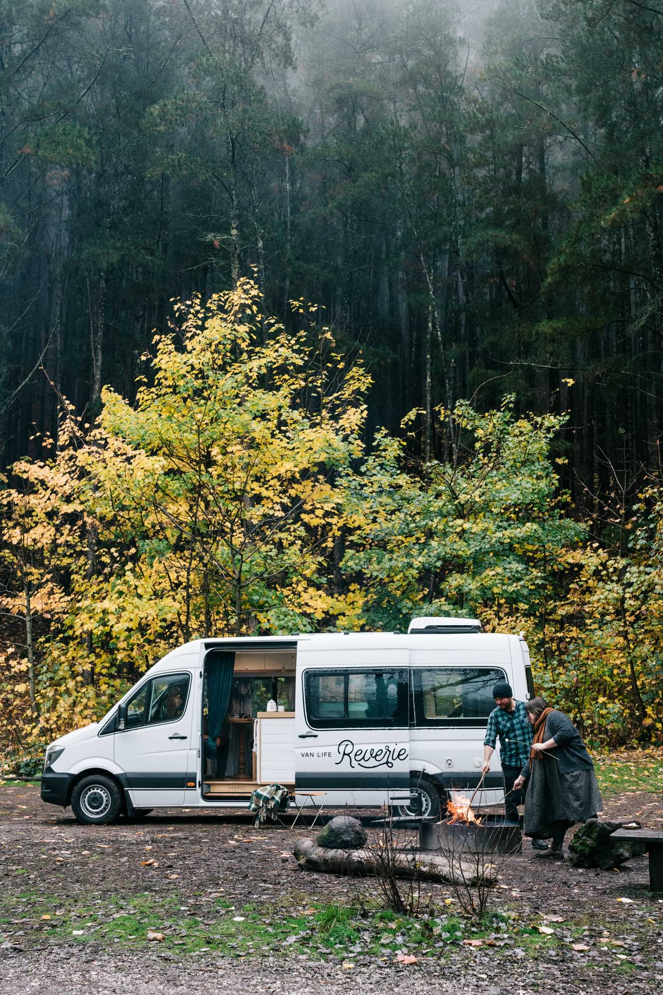 Reverie Road, Mercedes Sprinter van for hire. Photography by Marnie Hawson.