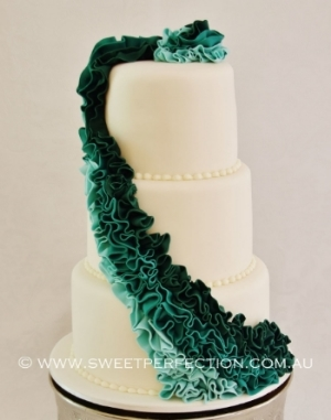 Trudi and Jarrod's Wedding Cake.
