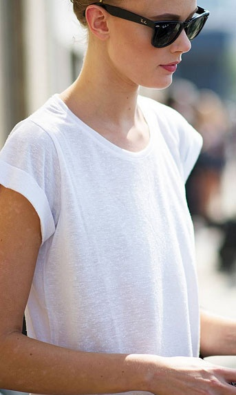the ideal white tee